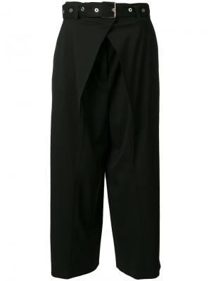 Belted flared trousers Proenza Schouler. Цвет: чёрный