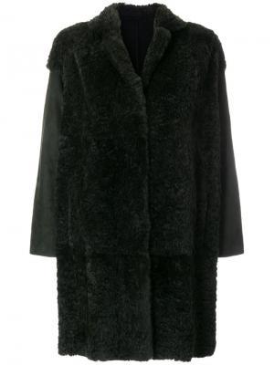 Свободное пальто с рукавами клеш Salvatore Santoro. Цвет: зелёный