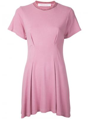 Расклешенное платье Eckhaus Latta. Цвет: розовый и фиолетовый