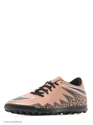 Шиповки HYPERVENOM PHADE II TF Nike. Цвет: темно-бежевый, бледно-розовый