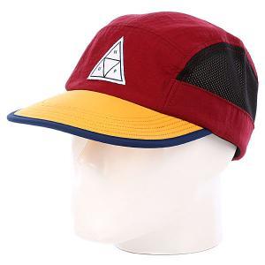 Бейсболка пятипанелька  Scout Volley Wine Huf. Цвет: красный,желтый