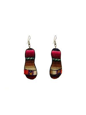 Серьги из Перу Shoes Indira. Цвет: красный