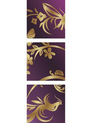 Картина модульная из квадратов 300*300мм ДСТ. Цвет: желтый, фиолетовый