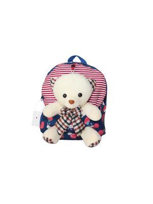 Детский рюкзак с мишкой GOOD MOOD. Цвет: синий