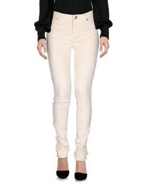 Повседневные брюки CRUCIANI. Цвет: слоновая кость