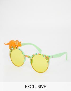 Spangled Солнцезащитные очки с динозавром