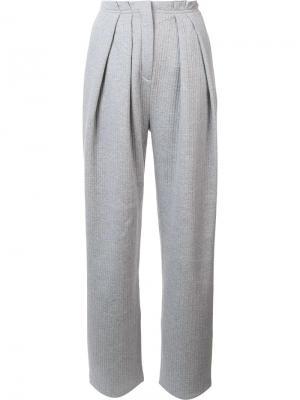 Высокие брюки со складками Vika Gazinskaya. Цвет: серый