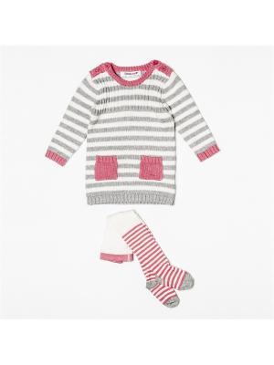 Комплект одежды BABALUNO. Цвет: розовый, серый