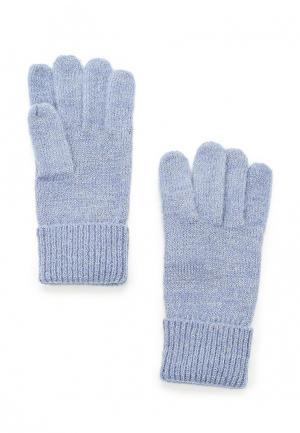 Перчатки Mango. Цвет: голубой