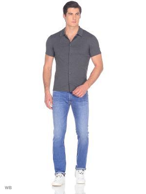 Рубашка JB casual. Цвет: серый