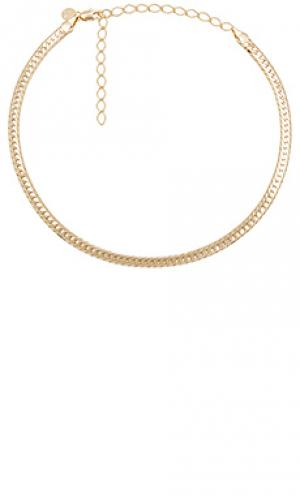 Ожерелье sicily herringbone Child of Wild. Цвет: металлический золотой