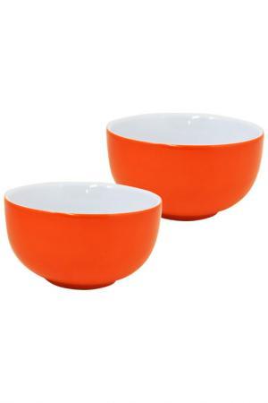 Набор салатников, 2 шт. KAHLA. Цвет: оранжевый