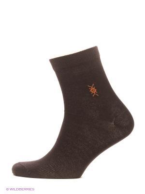 Носки, 2 пары BROSS. Цвет: коричневый