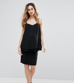 New Look Maternity Узкая юбка миди для беременных. Цвет: черный