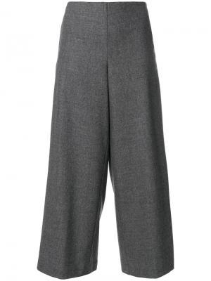 Широкие брюки Stefano Mortari. Цвет: серый