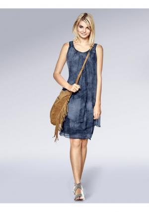 Платье Mandarin. Цвет: коралловый, серо-коричневый, синий деним
