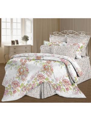 Комплект постельного белья 2,0 перкаль Аэлита Романтика. Цвет: белый