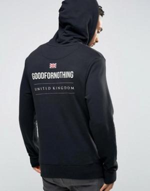 Good For Nothing Худи с принтом на спине. Цвет: черный