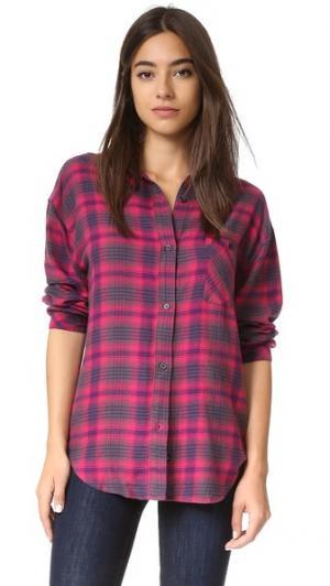 Рубашка с пуговицами Jackson RAILS. Цвет: кармин/темно-синий