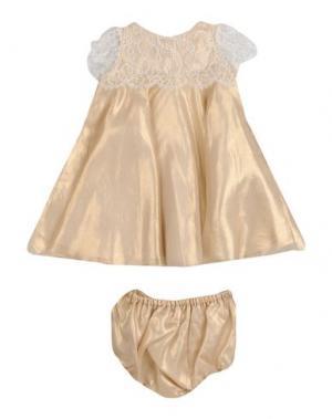 Платье LA STUPENDERIA. Цвет: бежевый