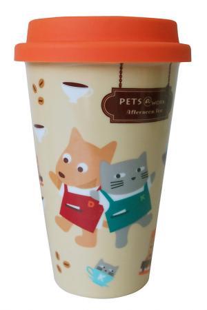 Фарфоровая кружка Pets@work. Цвет: оранжевый