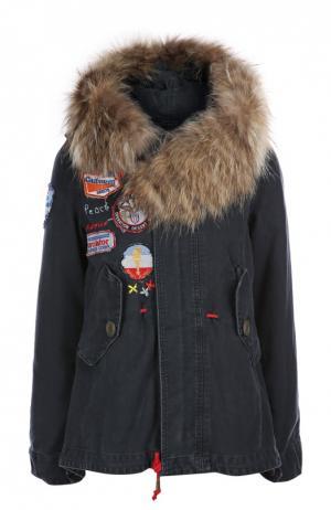 Куртка с капюшоном History Repeats by Femme. Цвет: синий