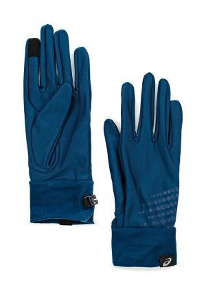 Перчатки ASICS. Цвет: синий