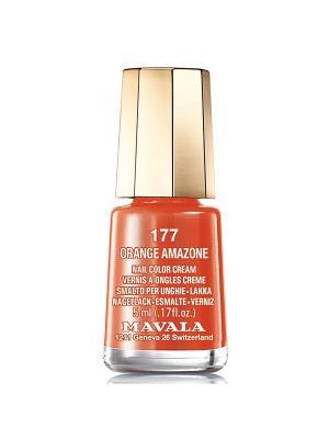 Лак для ногтей тон 177 Orange amazone Mavala. Цвет: оранжевый