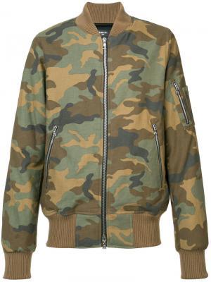 Куртка с камуфляжным принтом Amiri. Цвет: телесный