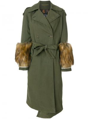 Пальто-тренч Bazar Deluxe. Цвет: зелёный