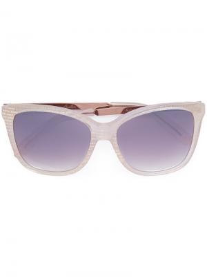 Солнцезащитные очки в квадратной оправе Monique Lhuillier. Цвет: белый