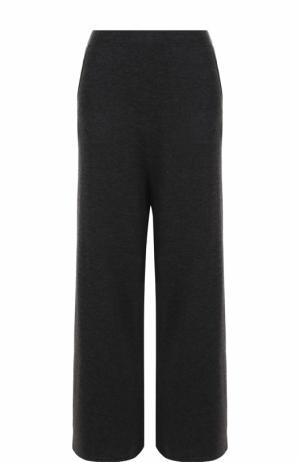 Расклешенные шерстяные брюки с карманами Allude. Цвет: темно-серый