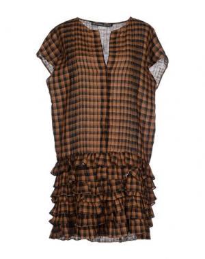 Короткое платье LES PRAIRIES DE PARIS. Цвет: коричневый