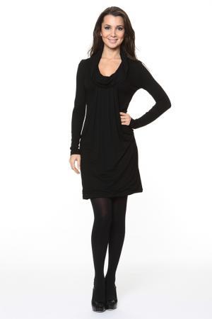 Великолепное платье с воротником-хомут Piamente. Цвет: черный