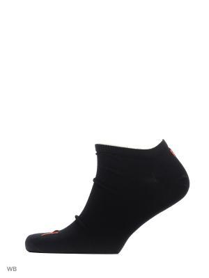 Носки UNISEX SNEAKER PLAIN 3P PUMA. Цвет: черный, красный, серый