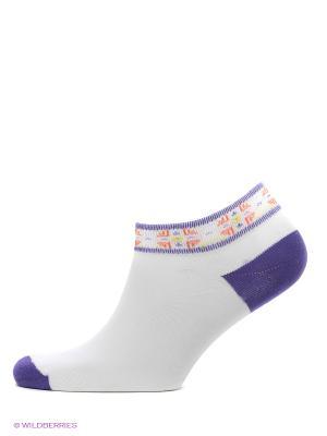 Носки, 2 пары Cascatto. Цвет: сиреневый, белый