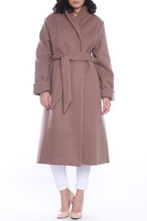Пальто Moda di Chiara. Цвет: ligh brown