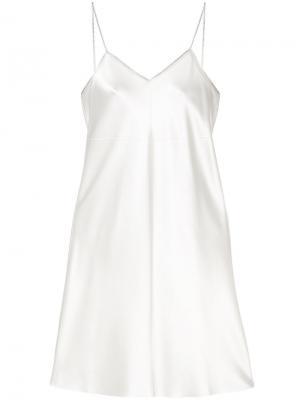 Платье декорированное молнией Helmut Lang. Цвет: телесный