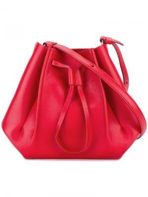 Структурированная сумка-мешок Maison Margiela. Цвет: красный