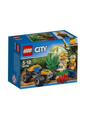 City Jungle Explorer Багги для поездок по джунглям 60156 LEGO. Цвет: синий