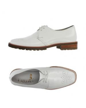 Обувь на шнурках F-TROUPE. Цвет: белый