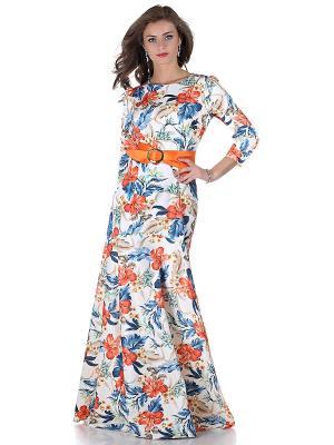 Платье OLIVEGREY. Цвет: молочный, оранжевый, синий, бирюзовый