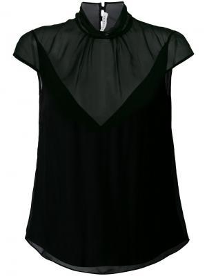 Полупрозрачная блузка с драпировкой Olivier Theyskens. Цвет: чёрный