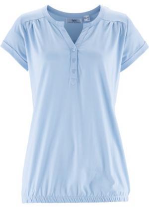 Блузон с короткими рукавами (синяя пудра) bonprix. Цвет: синяя пудра