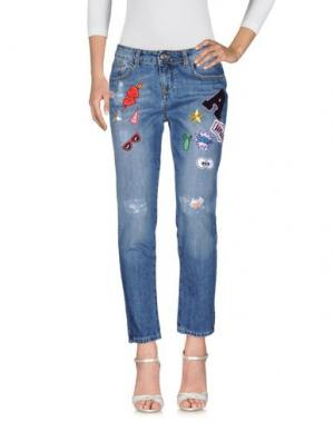 Джинсовые брюки ANNARITA N TWENTY 4H. Цвет: синий
