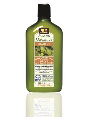 Шампунь с маслом оливы  и косточек винограда, 325 мл Avalon Organics. Цвет: прозрачный