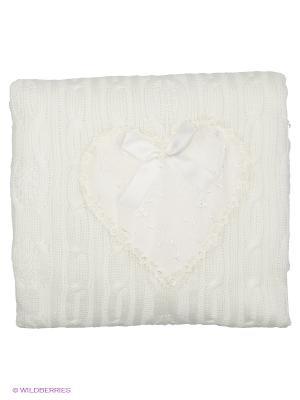 Плед Сердечко Сонный гномик. Цвет: белый