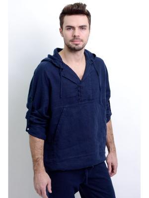 Сорочка Венто-2 LINO RUSSO. Цвет: темно-синий