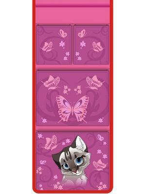 Кармашек в шкафчик для детского садика Сиамская кошка Мое. Цвет: розовый