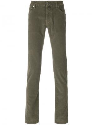 Вельветовые брюки Jacob Cohen. Цвет: зелёный